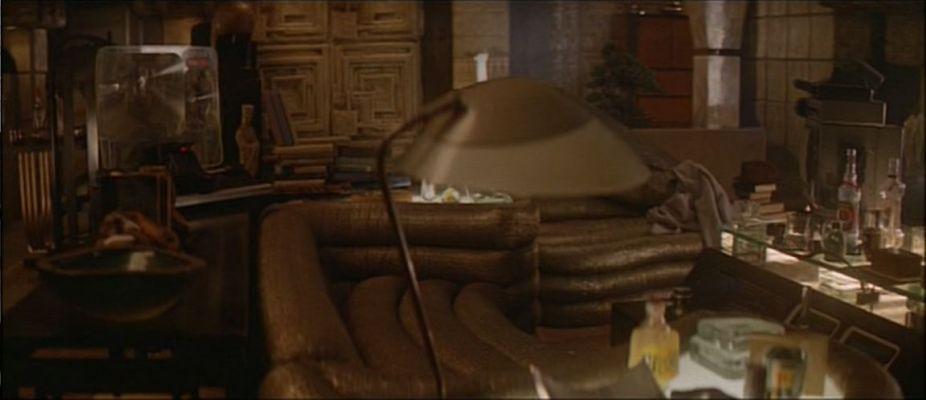 A shot of Rick Deckard's living area