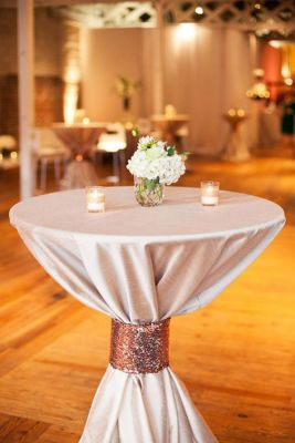 shimmery ribbon table