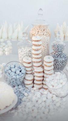 white winter buffet