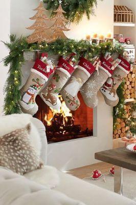 burlap design stocking