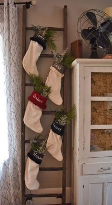 knit ladder stocking