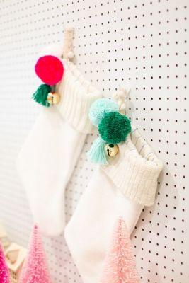 white peg stocking