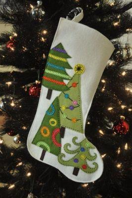 white tree stocking