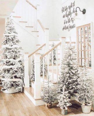 all white christmas