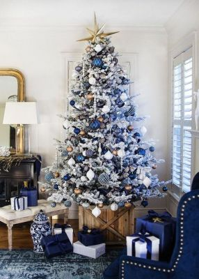 blue white christmas