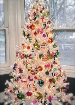 bright balls white christmas