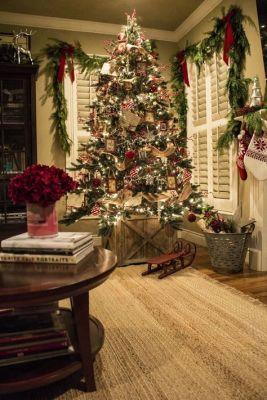 bright christmas living room