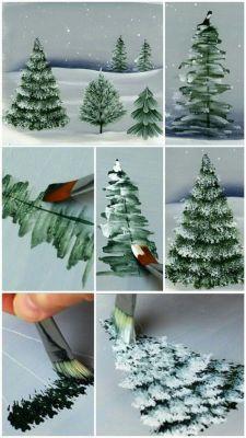 step by step christmas tree