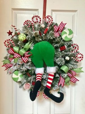 Funny Elf Wreath