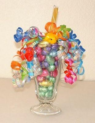 choco eggs vase