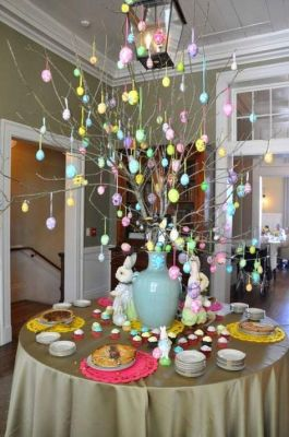 easter egg tree centerpiece