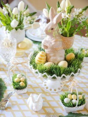 garden bunny white