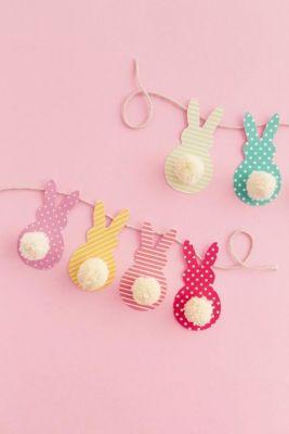 pastel bunny line