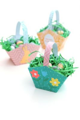patterned paper baskets
