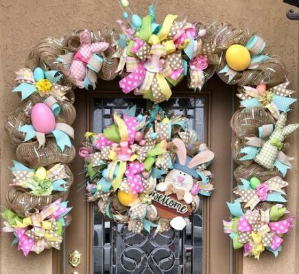 easter burlap door wreath garland