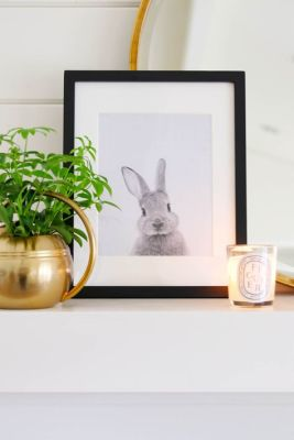 bunny photo mantel