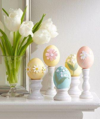 flower pastel egg