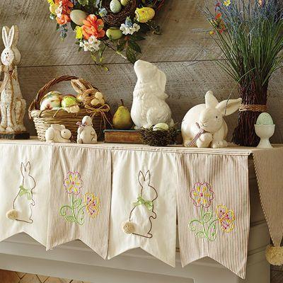 white bunny scarf