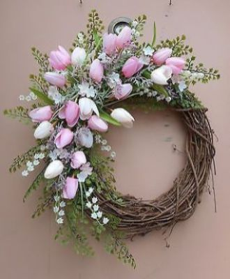 easy pink wreath