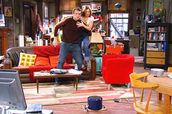 marshall and lily scared living room