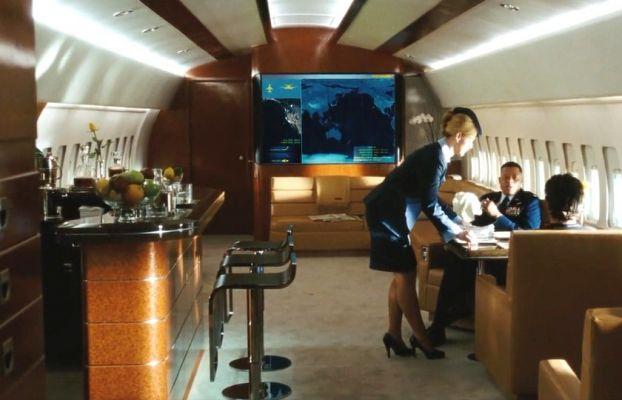 stark airplane interior