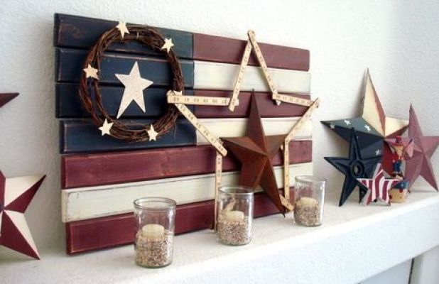 candle american mantel