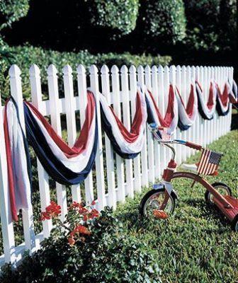 memorial streamer fence