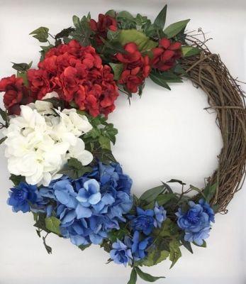 minimalist memorial wreath