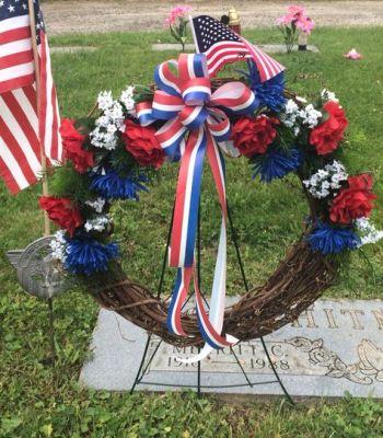 wreath grave