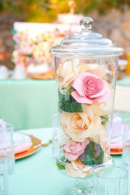 flowers in jar