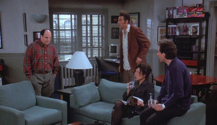 Seinfeld gang living room