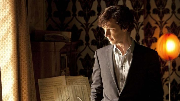 Sherlock living room wallpaper