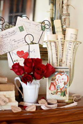 letter roses decor