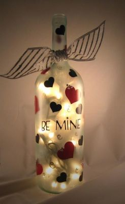 bottle light heart