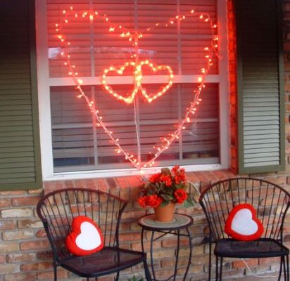 fairy light shape heart