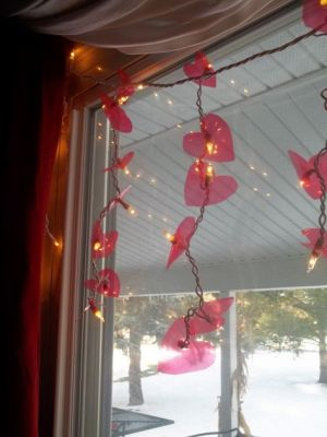 heart fairy light diy