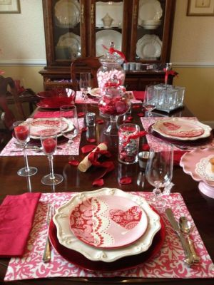 red fancy table