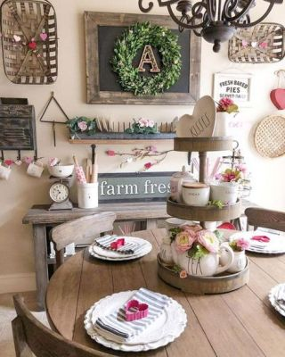 rustic table heart