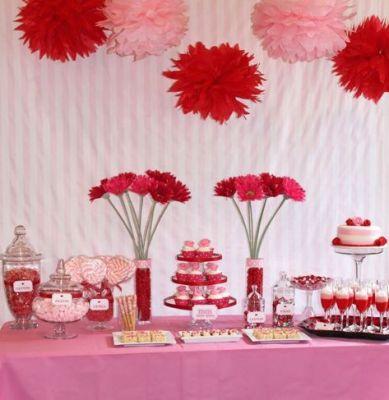 red pink buffet