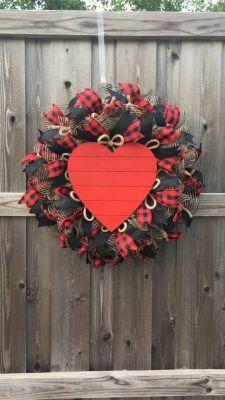 black plaid wreath
