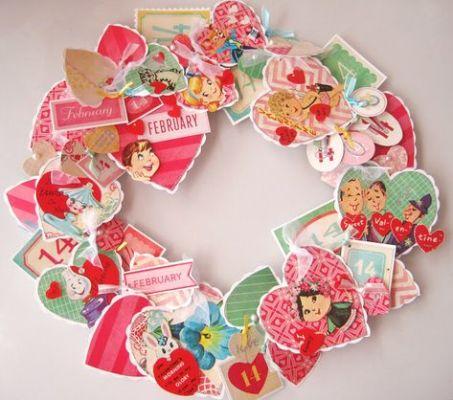 paper cuts wreath
