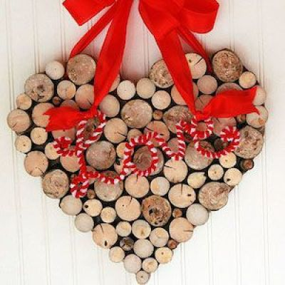 wood cut heart