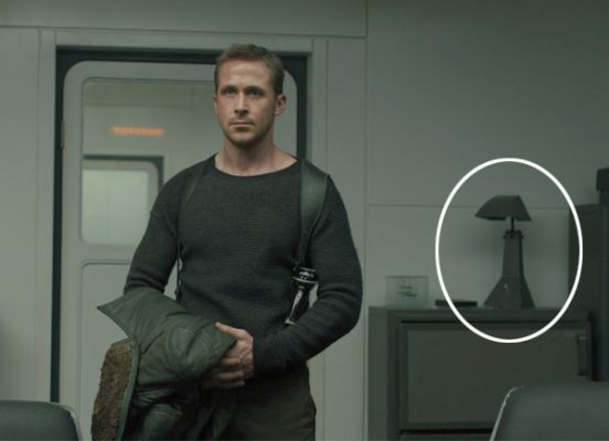 Officer K in Blade Runner 2049 standing in room with E63 Ruspa Lamp