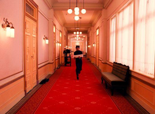 One of Grand Budapest Hotel's hallways.