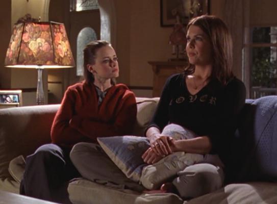 Rory and Lorelai living room