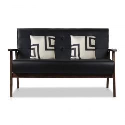 AODAILIHB Modern Fabric Upholstered Wooden 2-Seat Sofa