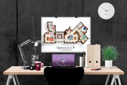 Big Bang Theory Art Print – Apartment Floor Plan