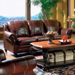 Darby Home Co Rosetta Leather Sofa