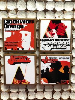A Clockwork Orange Movie Poster coasters