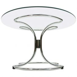 Giotto Stoppino Glass and Steel Tube Dining Table